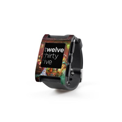 Pebble Watch Skin - A Mad Tea Party