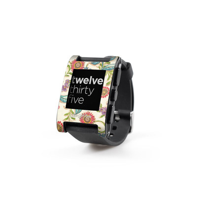 Pebble Watch Skin - Olivia's Garden