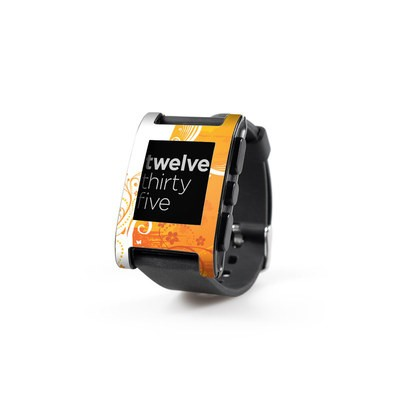 Pebble Watch Skin - Orange Crush