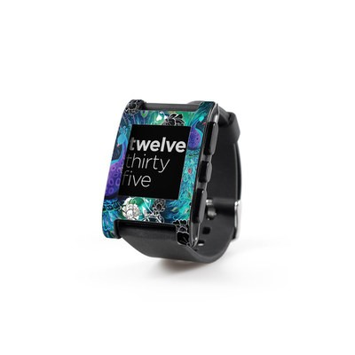 Pebble Watch Skin - Peacock Garden