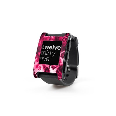 Pebble Watch Skin - Pink Splatter