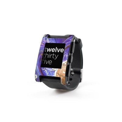 Pebble Watch Skin - Purple Waves