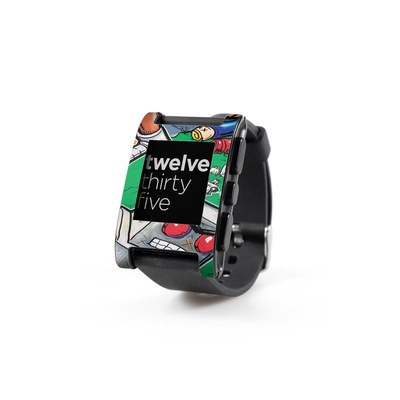 Pebble Watch Skin - Robot Beatdown