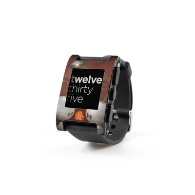 Pebble Watch Skin - Robots In Love