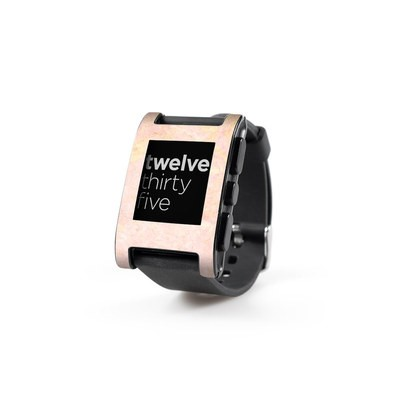 Pebble Watch Skin - Rose Gold Marble