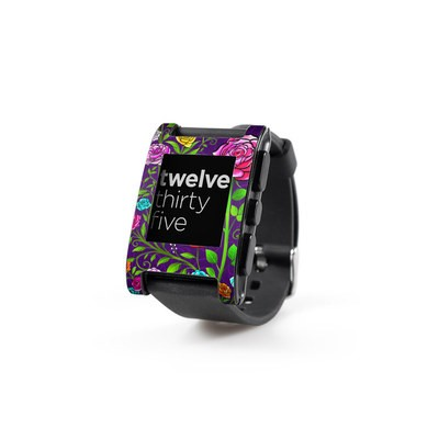Pebble Watch Skin - Rose Burst