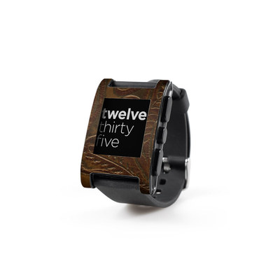 Pebble Watch Skin - Saddle Leather