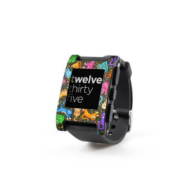 Pebble Watch Skin - Sew Catty