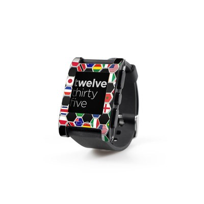 Pebble Watch Skin - Soccer Flags