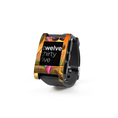 Pebble Watch Skin - Sunset Flamingo