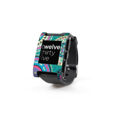Pebble Watch Skin - Silk Road