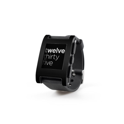Pebble Watch Skin - Solid State Black