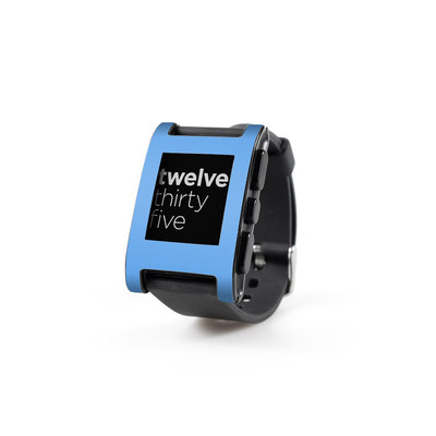 Pebble Watch Skin - Solid State Blue