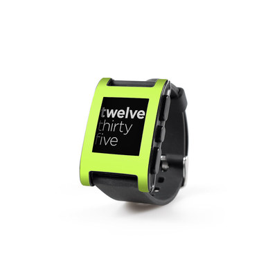 Pebble Watch Skin - Solid State Lime