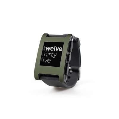 Pebble Watch Skin - Solid State Olive Drab