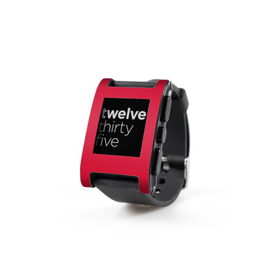 Pebble Watch Skin - Solid State Red