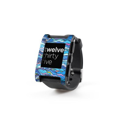 Pebble Watch Skin - The Blues