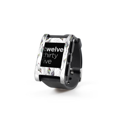 Pebble Watch Skin - Wildflowers