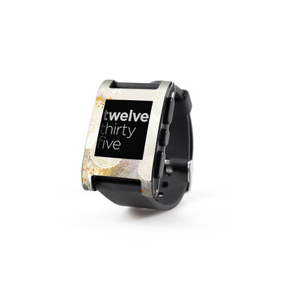 Pebble Watch Skin - White Velvet
