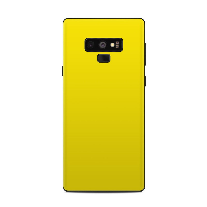 Samsung Galaxy Note 9 Skin - Solid State Yellow by Solid ...