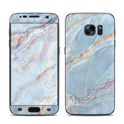 separation shoes 7924c 1191b Samsung Galaxy S7 Skin - White Marble by Marble Collection   DecalGirl