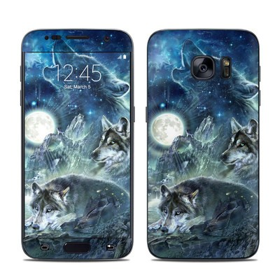 Samsung Galaxy S7 Skin - Bark At The Moon