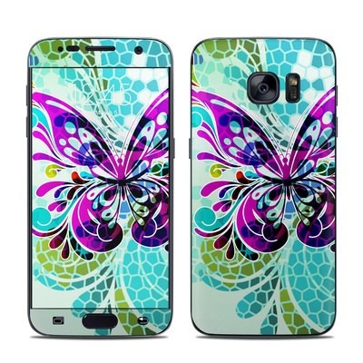 Samsung Galaxy S7 Skin - Butterfly Glass