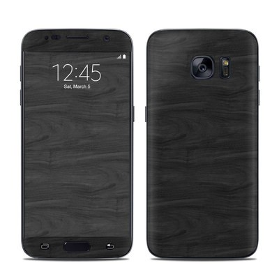 Samsung Galaxy S7 Skin - Black Woodgrain