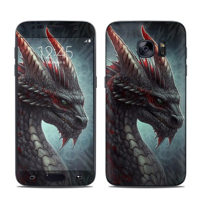 Samsung Galaxy S7 Skin - Black Dragon