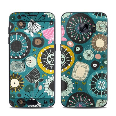 Samsung Galaxy S7 Skin - Blooms Teal