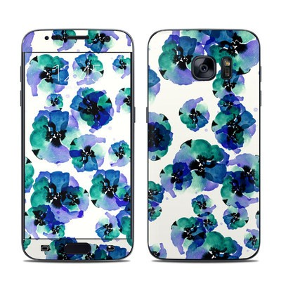 Samsung Galaxy S7 Skin - Blue Eye Flowers