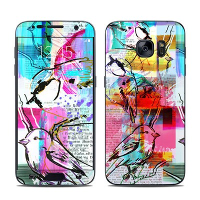 Samsung Galaxy S7 Skin - Book Birds