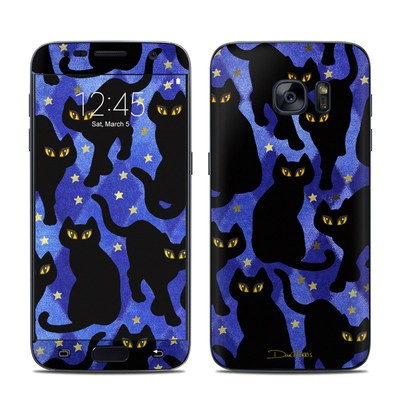 Samsung Galaxy S7 Skin - Cat Silhouettes