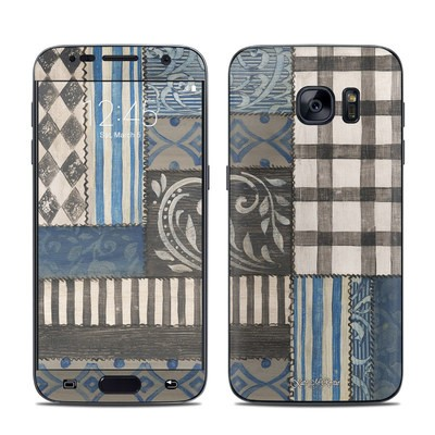 Samsung Galaxy S7 Skin - Country Chic Blue