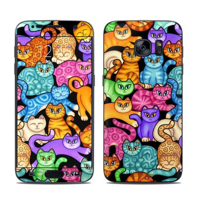 Samsung Galaxy S7 Skin - Colorful Kittens