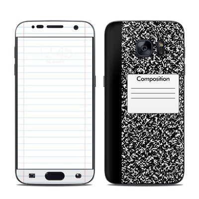Samsung Galaxy S7 Skin - Composition Notebook