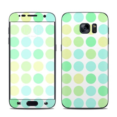 Samsung Galaxy S7 Skin - Big Dots Mint