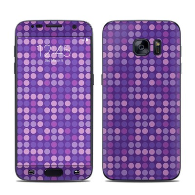 Samsung Galaxy S7 Skin - Dots Purple