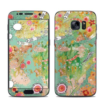 Samsung Galaxy S7 Skin - Feathers Flowers Showers