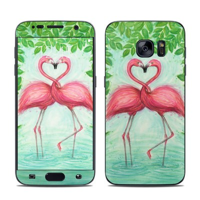 Samsung Galaxy S7 Skin - Flamingo Love