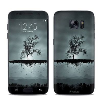 Samsung Galaxy S7 Skin - Flying Tree Black