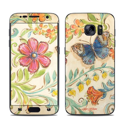 Samsung Galaxy S7 Skin - Garden Scroll