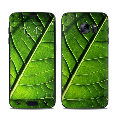 Samsung Galaxy S7 Skin - Green Leaf