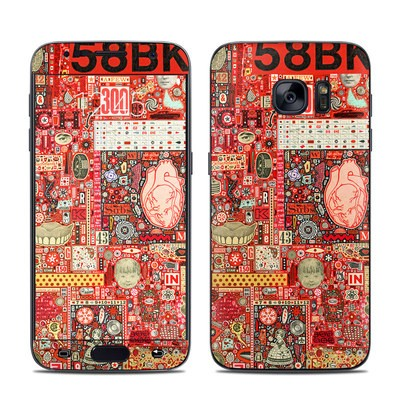 Samsung Galaxy S7 Skin - Heart and Teeth