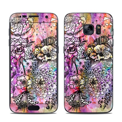 Samsung Galaxy S7 Skin - Hot House Flowers