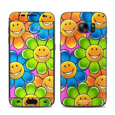 Samsung Galaxy S7 Skin - Happy Daisies