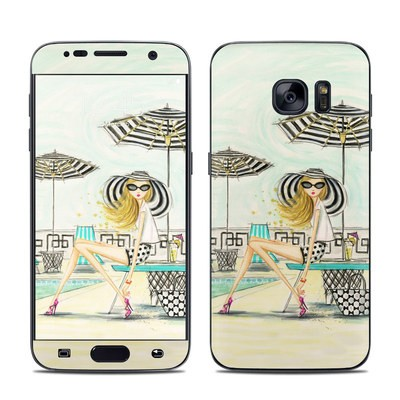 Samsung Galaxy S7 Skin - Luxe Retreat Poolside
