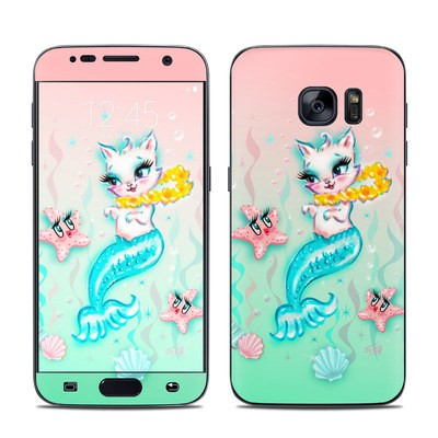 Samsung Galaxy S7 Skin - Merkitten with Lei