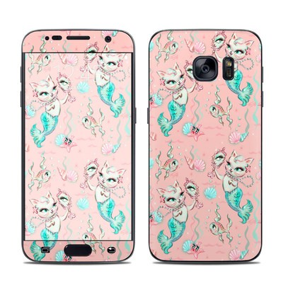 Samsung Galaxy S7 Skin - Merkittens with Pearls Blush