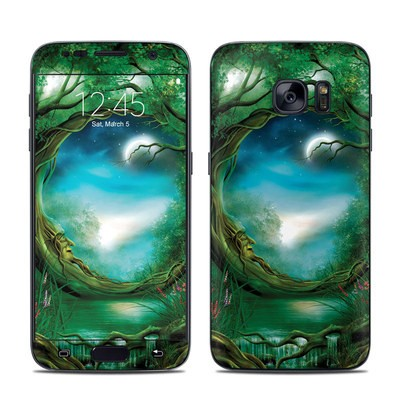 Samsung Galaxy S7 Skin - Moon Tree